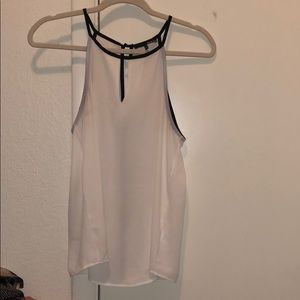 White tank with black details